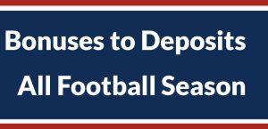 America's Bookie Offers Bonuses Tied to Deposits all Football Season Long